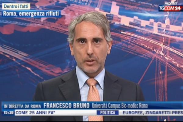 Emergenza rifiuti nella Capitale ed economia circolare. Tgcom24 intervista il prof. Francesco Bruno