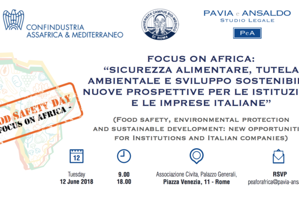 "Roma, 12 giugno: ""Food Safety Day – Focus on Africa"". Il programma completo"