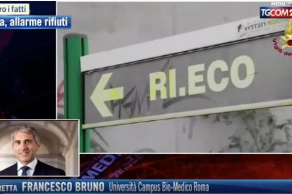 Emergenza rifiuti e incendio Tmb Rocca Cencia. Prof. Francesco Bruno a Tgcom24